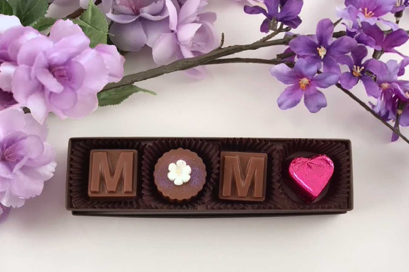 Chocolate Text - Mother's Day -Truffle Box