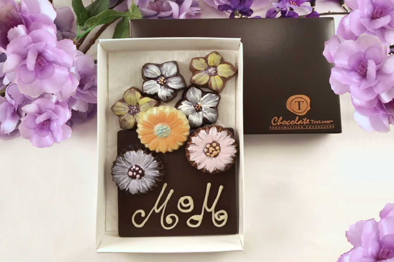 Chocolate Text - Mother's Day -Secret Bouquet