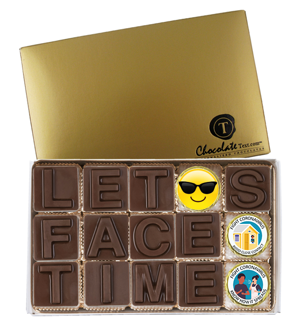 Chocolate Text - <b>Lets Face Time </b>- 15 pc. ChocolateText box