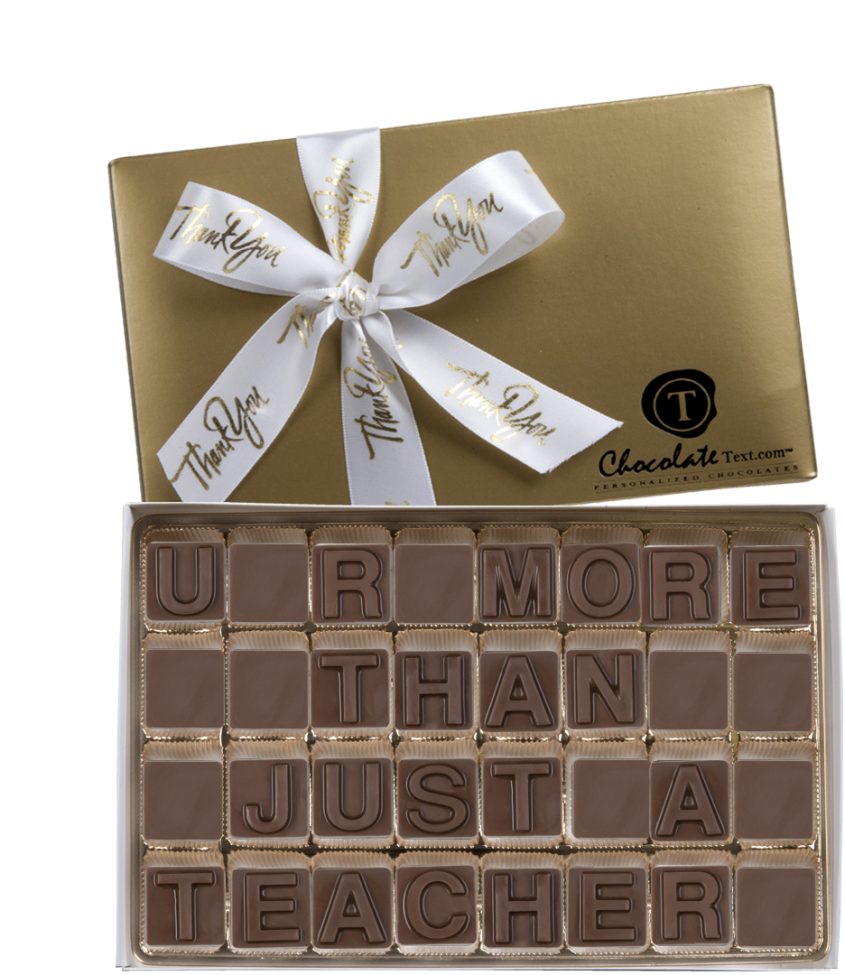 Chocolate Text - U R More Than Just A Teacher-with imprinted ribbon