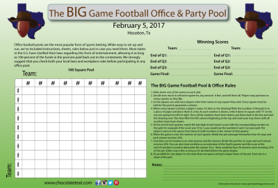 Chocolate Football Office & Party Pool pack and Chocolate