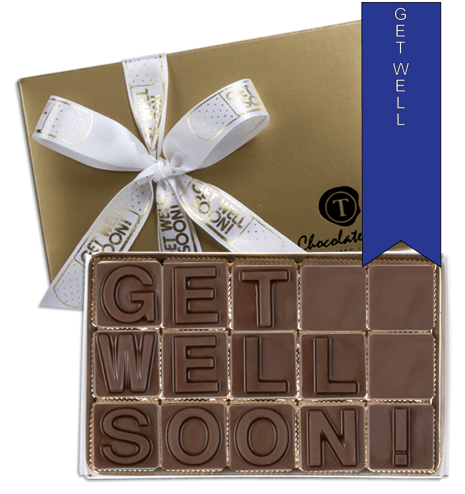 Chocolate Text - Get Well Soon - Military