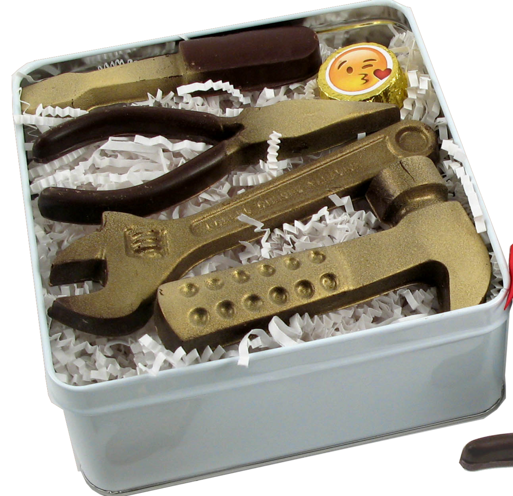 Chocolate Text - Love Takes Work™  – Chocolate Tool Set